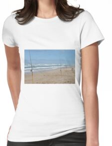 just waiting Womens Fitted T-Shirt