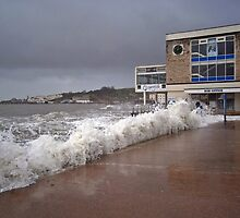 February storm at Swanage by Mike Streeter