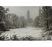Central Park SnowStorm Photographic Print