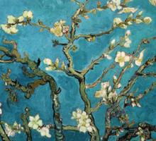 Blossoming Almond Tree, Vincent van Gogh.  Sticker