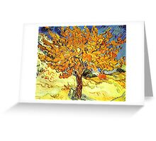 The Mulberry Tree, Vincent van Gogh Greeting Card
