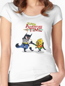 super adventure time Women's Fitted Scoop T-Shirt