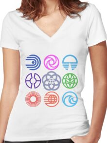 EPCOT Pavilions Women's Fitted V-Neck T-Shirt