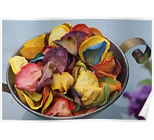 Dried coloured roses  Poster
