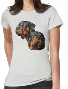 Rottweiler Dog Portrait Womens Fitted T-Shirt