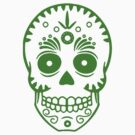 Sugar Skull 0001 Green by thatstickerguy