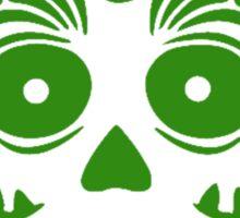 Sugar Skull 0001 Green Sticker