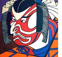 Kibuki Actor - i-pad case by Shulie1