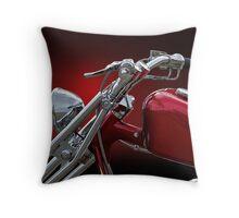 Red Chopper I Throw Pillow