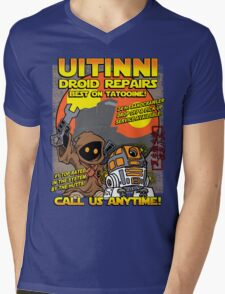 Droid repairs! Mens V-Neck T-Shirt