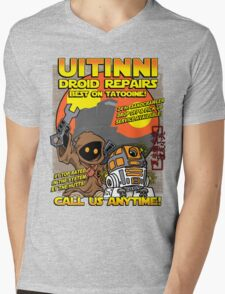 Droid repairs! Mens V-Neck T-Shirt