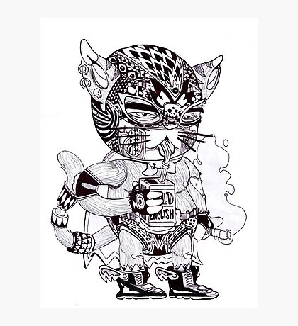 El Gato Bandito Photographic Print