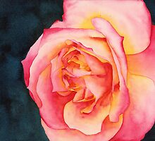 Rose Ablaze by Ken Powers
