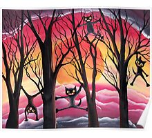 Kitty Frenzy - Surreality by Angieclementine Poster