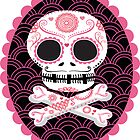 Pink Sugar Skull Vector by Pip Gerard