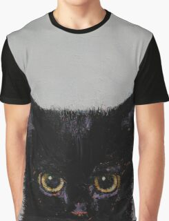 Black Kitten Graphic T-Shirt
