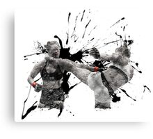 Ronda Rousey knocked out by Holly Holm Canvas Print