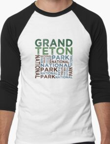 Grand Teton National Park Men's Baseball ¾ T-Shirt
