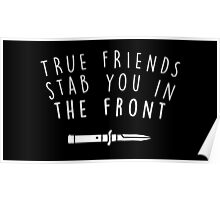 True friends stab you in the front Poster