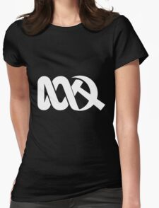 Red ABC in Reverse Womens Fitted T-Shirt