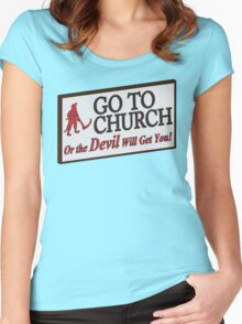 Go to Church Sign in Alabama Women's Fitted Scoop T-Shirt