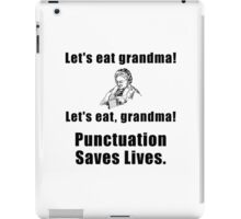 Punctuation Saves Lives iPad Case/Skin