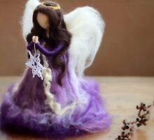 Beautiful Purple Angel by CloudberryCraft
