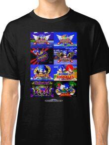 Sonic Mega Drive Title Screens (Europe Logo) Classic T-Shirt