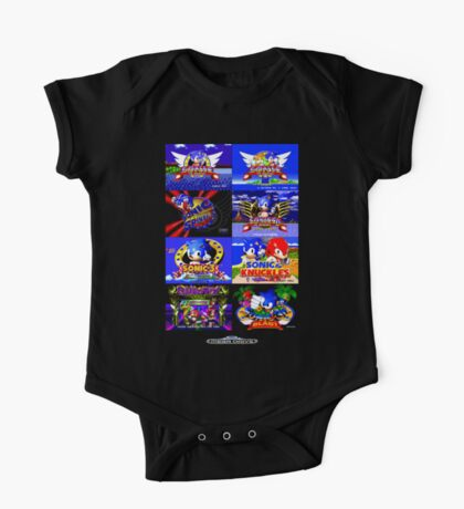 Sonic Mega Drive Title Screens (Europe Logo) One Piece - Short Sleeve