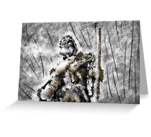 Winter warrior Greeting Card