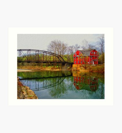 Down By The Old Mill Stream Art Print