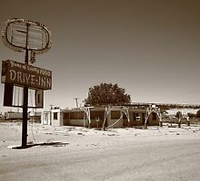 Route 66 - Abandoned Drive-In by Frank Romeo