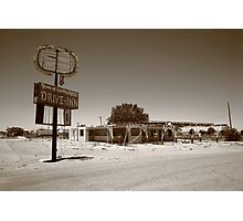 Route 66 - Abandoned Drive-In Photographic Print