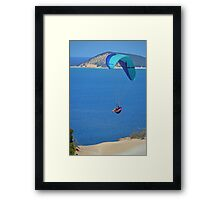 Rainbow Beach Paragliding Framed Print