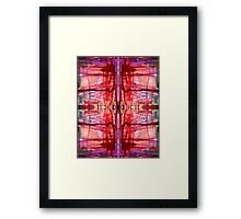 mostly red with purple bleeds Framed Print