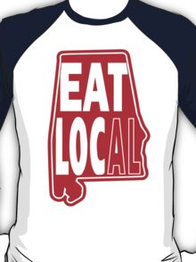 eat local red print T-Shirt