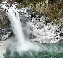 Icy Snoqualmie Falls by Jim Stiles
