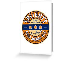 SPEIGHT'S GOLD MEDAL ALE Greeting Card