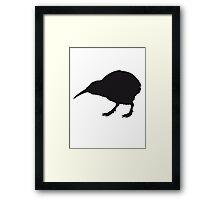 Cute Little Kiwi Bird Design Framed Print