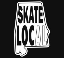 skate local white print Kids Clothes