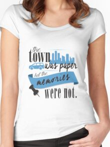 John Green - Paper Towns Quote Women's Fitted Scoop T-Shirt