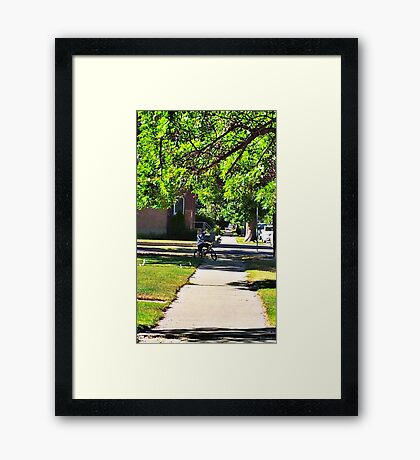 In Small Town Framed Print