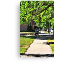 In Small Town Canvas Print