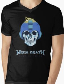 Mega Death Mens V-Neck T-Shirt