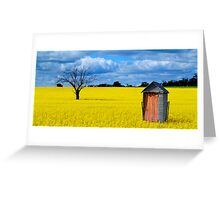 Canola Privy Greeting Card
