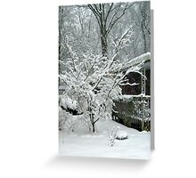 Tree Blooming With Snow Greeting Card