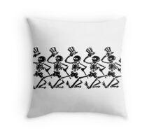 Dancing Uncle Sam Skeletons Throw Pillow