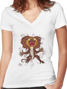 Frilled Hysteria Women's Fitted V-Neck T-Shirt