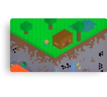 8-BIT Minecraft  Canvas Print