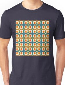 orange and teal circles and dots Unisex T-Shirt
